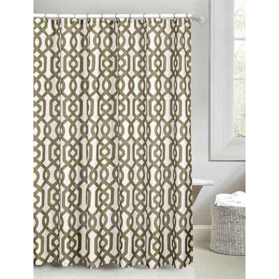 Patterned Shower Curtain Color: Taupe
