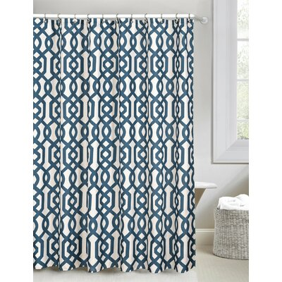 Patterned Shower Curtain Color: Dark Blue