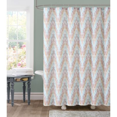 Tile Dobby Shower Curtain Color: Turquoise