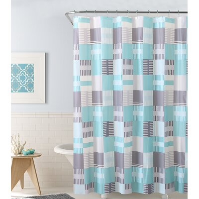 PEVA Shower Curtain Color: Aqua