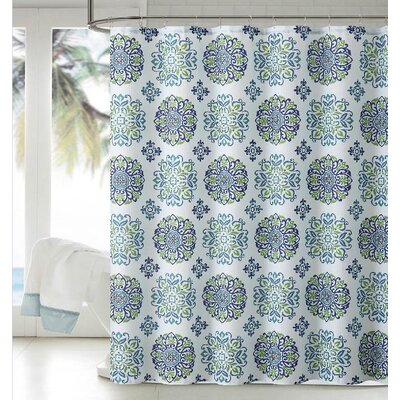 Dobby Shower Curtain Color: Blue