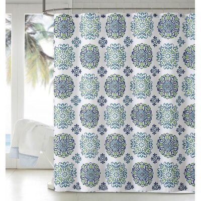 Dobby Shower Curtain Color: Turquoise