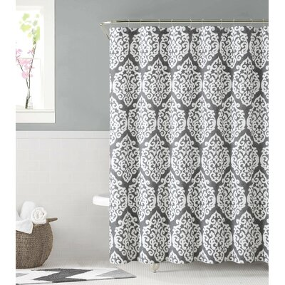Cotton Shower Curtain Color: Silver