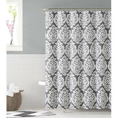 Cotton Shower Curtain Color: Silver
