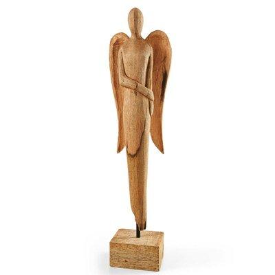 Dekofigur Engel Mystic | Dekoration > Figuren und Skulpturen > Engel | Beige | Mangoholz | PureDay
