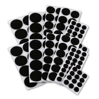 Premium Heavy-Duty Furniture Felt Pad Protectors for Hardwood (Pack of 152) Color: Black