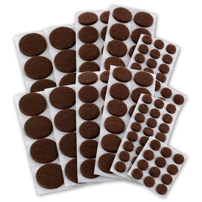 Premium Heavy-Duty Furniture Felt Pad Protectors for Hardwood (Pack of 152) Color: Brown