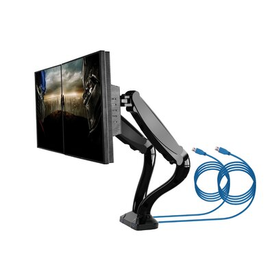 LCD VESA Height Adjustable Universal Tilt 2 Screen Desk Mount