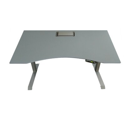 Ergonomic Table Top Color: Gray
