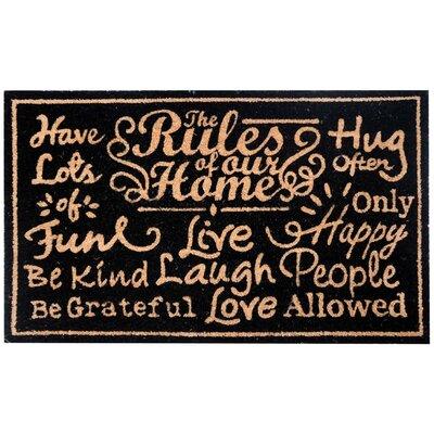 Perrysville Home Rules Coir Doormat