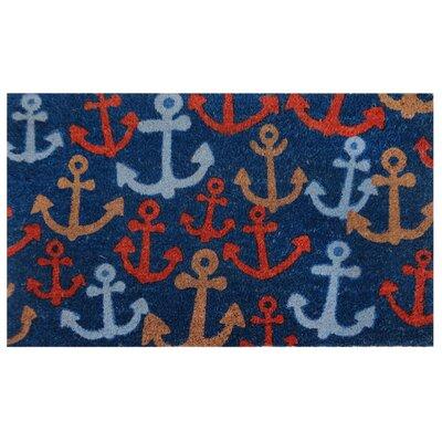 Docklands Anchors Coir Doormat