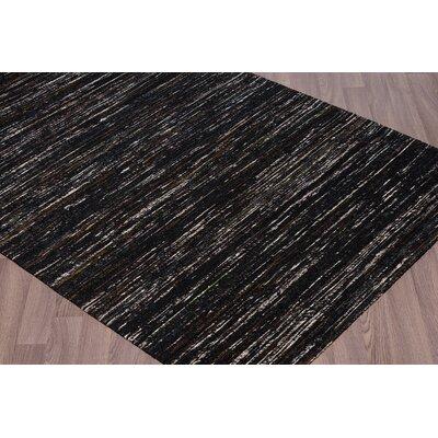 Carrell Handmade Charcoal Area Rug Rug Size: 76 x 96