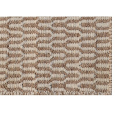 Shravan Handmade Ivory/Beige Area Rug Rug Size: 76 x 96