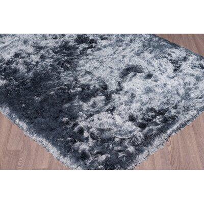 Bourdon Hand-Woven Silver Area Rug Rug Size: 5 x 76