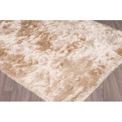 Bertha Hand-Woven Camel Area Rug Rug Size: 5 x 76