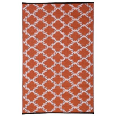 Walden Orange Area Rug Rug Size: 4 x 6