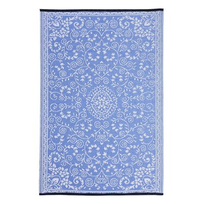 Walden Classic Blue Area Rug Rug Size: 5 x 8