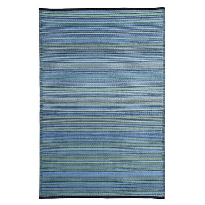 Caroline Blue Outdoor Area Rug Rug Size: 5 x 8