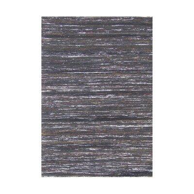 Carrell Handmade Charcoal Area Rug Rug Size: 5 x 76