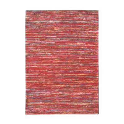 Carone Handmade Red Area Rug Rug Size: 5 x 76