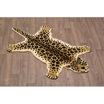 Hidden Hills Leopard Skin Shape Hand Woven Brown/Black Area Rug