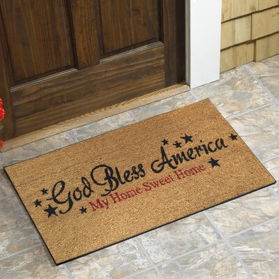 Carruth God Bless America Doormat