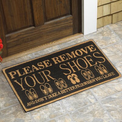 Carruthers Please Remove Shoes Doormat