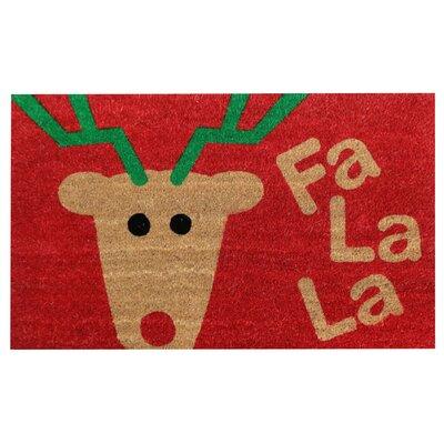 Fa La La Christmas Coir Doormat