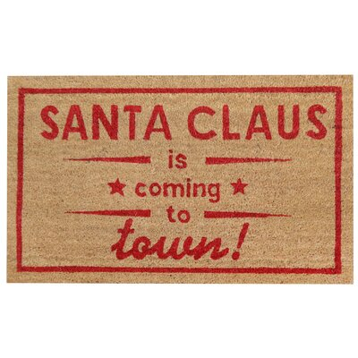 Santa Coming Christmas Coir Doormat