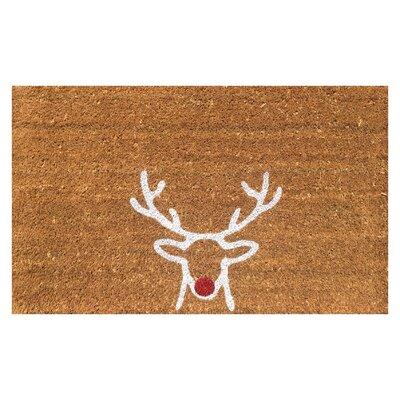 Reindeer Christmas Coir Doormat