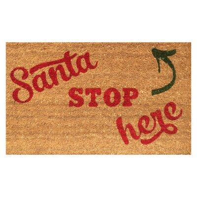 Santa Stop Here Christmas Coir Doormat