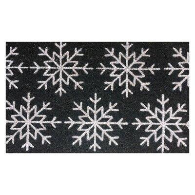 Snowflake Christmas Coir Doormat