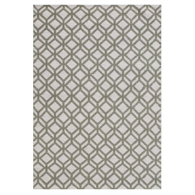 Lexington Avenue Facet Hand Knotted Wool Ivory/Green Area Rug Rug Size: Rectangle 5 x 76