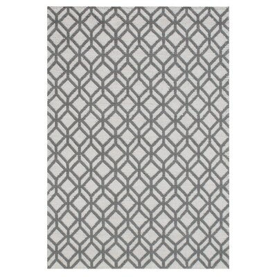 Liberty Street Facet Hand Knotted Wool Ivory/Gray Area Rug Rug Size: Rectangle 5 x 76