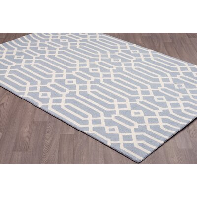 Katalina Trellis Hand-Tufted Wool Sky Blue Area Rug