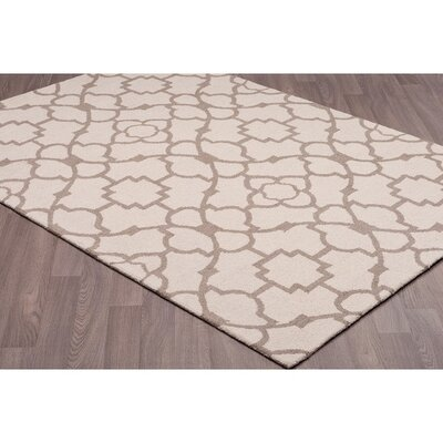 Canonbury Transitional Hand Tufted Wool Beige/Brown Area Rug