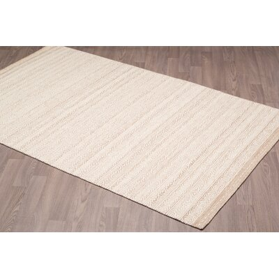 Back East Reversible Hand Woven Wool Ivory/Beige Area Rug Rug Size: Rectangle 5 x 8