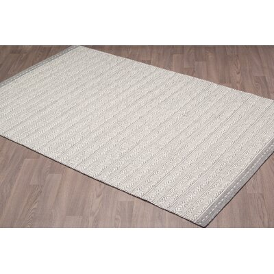 Backstrom Reversible Hand Woven Wool Ivory/Gray Area Rug Rug Size: Rectangle 8 x 10