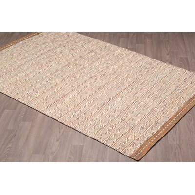Backwoods Reversible Hand Woven Wool Ivory/Brown Area Rug Rug Size: Rectangle 8 x 10