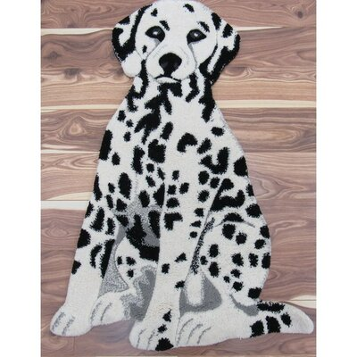 Hickory Dalmatian Dog Hand Woven Wool Black/White Area Rug