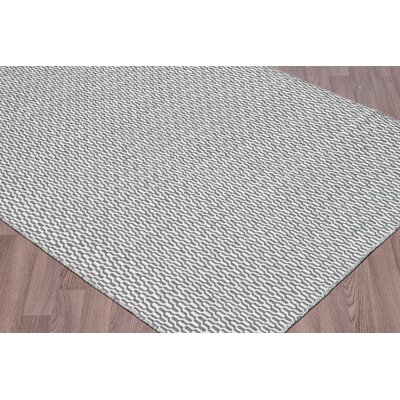 Lindbergh Reversible Flatweave Hand Woven Wool Ivory/Gray Area Rug Rug Size: Rectangle 5 x 8