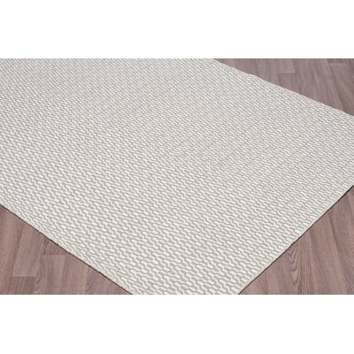 Linus Reversible Flatweave Hand Woven Wool Ivory/Silver Area Rug Rug Size: Rectangle 8 x 10