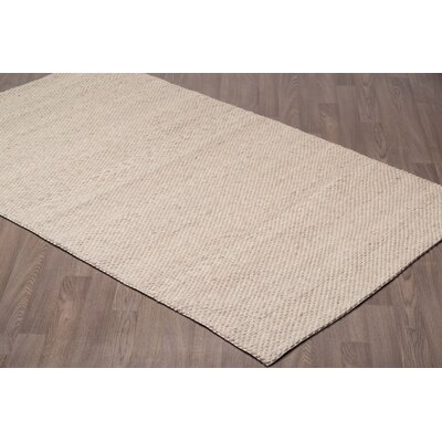 Lamere Hand-Woven Wool Ivory/Beige Area Rug Rug Size: Rectangle 5 x 8