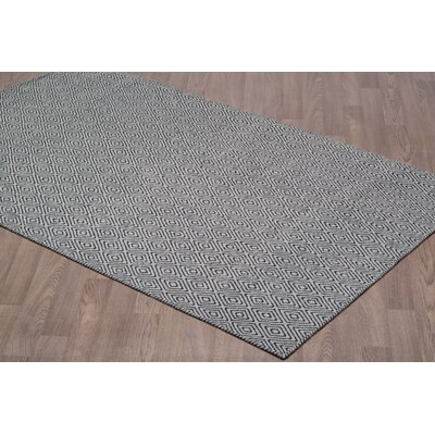 Liriano Diamond Reversible Hand-Woven Wool Gray/Black Area Rug Rug Size: Rectangle 8 x 10