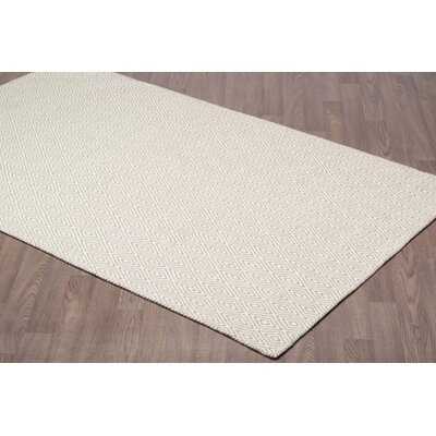 Little Neck Diamond Reversible Hand Woven Wool Ivory/Gray Area Rug Rug Size: Rectangle 5 x 8