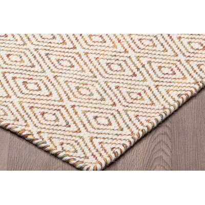 Littleton Diamond Reversible Hand Woven Wool Ivory/Beige Area Rug Rug Size: Rectangle 5 x 8