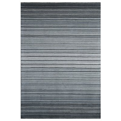 Nathanson Stripe Hand-Woven Wool Gray Area Rug Rug Size: Rectangle 76 x 96