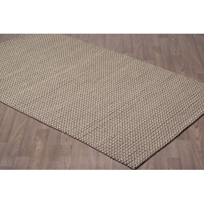 Langlois Hand Tufted Wool Ivory/Gray Area Rug Rug Size: Rectangle 5 x 8