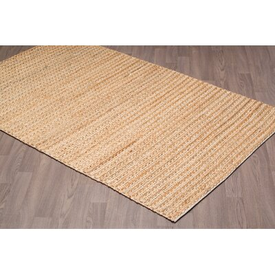 Lanoue Hand-Knotted Beige Area Rug Rug Size: Rectangle 8 x 10