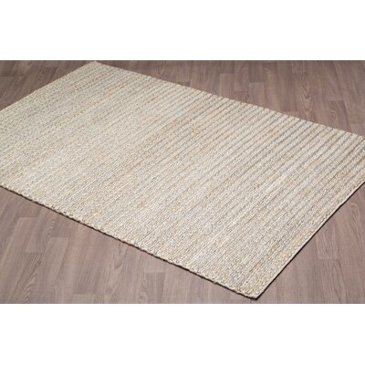 Lapierre Hand Knotted Silver/Gray Area Rug Rug Size: Rectangle 8 x 10